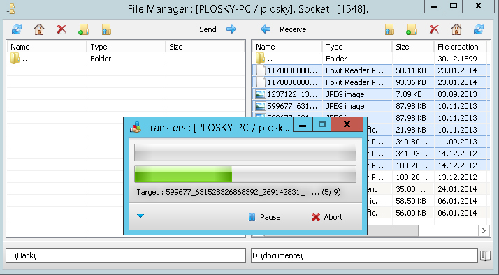 DarkComet file manager